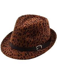 Amazon.it  Marrone - Cappelli Fedora   Cappelli e cappellini ... de68f288874d
