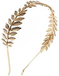Hosaire Bandeau cheveux de feuille Forme Serre-Tête accessoires cheveux pour Fête et Décoration cheveux Bijoux Cadeau d'amour Or