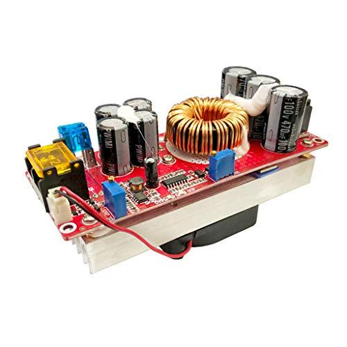 Anjuley - Modulo di Alimentazione progressiva per Auto elevatore, convertitore di CC da 1200 W, 20 A, 8-60 V a 12-83 V, con o Senza Ventilatore 2