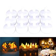 Rosymoment 223-8 Battery-Powered LED Candles Light, 12 Pieces, White, H 5.0 x W 4.0 x D 5.0 cm