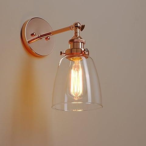 Pathson Antik Deko Design Klar Glas innen Wandbeleuchtung Wandleuchten Loft-Wandlampen Wandbeleuchtung