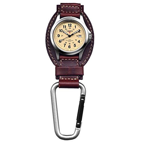 dakota-leather-field-clip-watch-sturdy-and-stylish-analog-display-carabiner-watch-oil-tanned-genuine