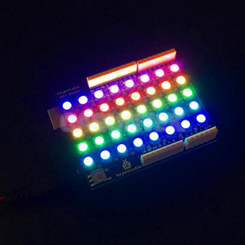 ELECTROPRIME® Keyestudio 40 RGB 8x5 40 LED WS2812 Pixel Matrix Shield for Arduino