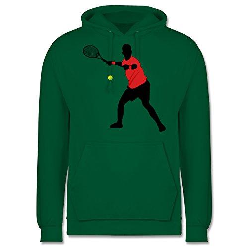Tennis - Tennis Vorhand - Männer Premium Kapuzenpullover / Hoodie Grün