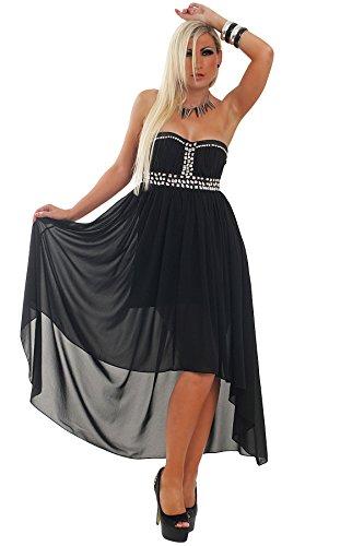 5517 Fashion4Young mini-robe de soirée pour femme robe de soirée disponible en 3 tailles :  4 couleurs Noir - Noir