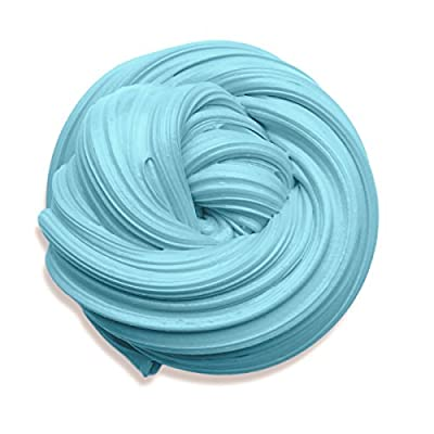 Fluffy Slime, 6 Ounce Baby Blue Putty Floam Slime with Storage Container Sensory Play Stress Relief Toy ADHT ASMR No Borax with Nice Fragrance for Kids and Adults