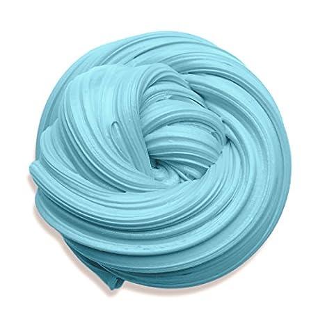 Fluffy Slime, 6 Unzen Baby Blue Putty Floam Slime mit Aufbewahrungsbehälter Sensorische Spiel Stress Relief Spielzeug ADHT ASMR Kein Borax mit Nizza Duft für Kinder und Erwachsene