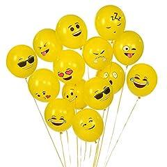 Idea Regalo - Gudotra 100 PCS Palloncini Emoji Bambini Diversi Smile per Decorazioni Natale Compleanno Addobbi per Feste di Compleanno