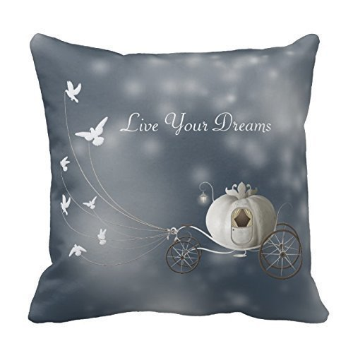 ziHeadwear Personalized Throw Pillowcase 18x 18Cute, Whimsy Cinderella Story Pillow Cover