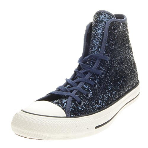 All Star Hi Glitter - 555115c Ensigne Blue/Egret/Black - (40, Ensigne Blue/Egret/Black)