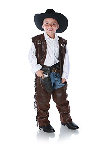 Cowboy Chaps Kids Costume, Brown (X-Large) Kid Cowboy-chaps