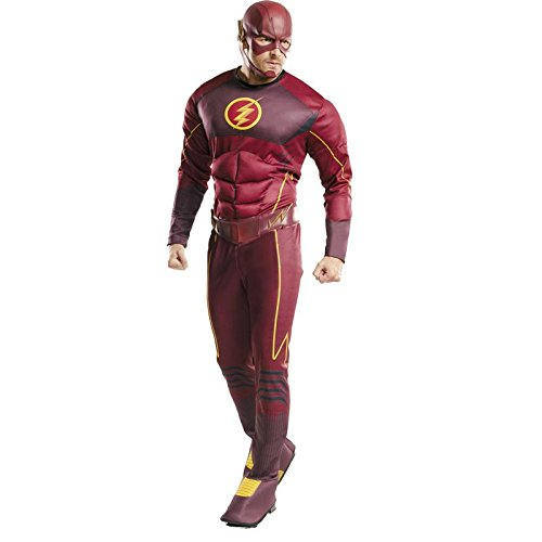 Rubies 3810394 - The Flash Deluxe - Adult, Action Dress Ups und Zubehör, One (Flash Masken)