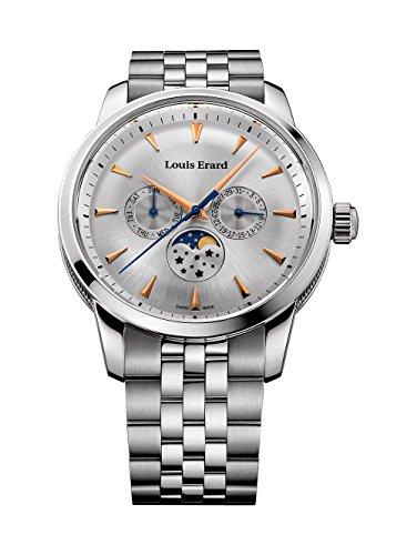 Louis Erard Heritage svizzero al quarzo quadrante argento orologio da uomo 14910AA11.bma38