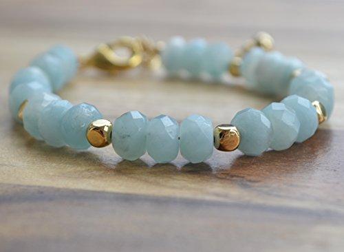 amazonite-rondelle-22ct-gold-plate-extender-chain-bracelet