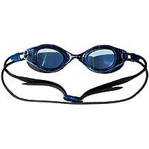 Gafas Maelstrom de natación - Ideal para la competición o entrenamiento - Lentes azul oscura - Hermético - Silicona - Ajustable - Anti Niebla - cómodas - Anti UV - triatlón o natación Para Hombres, Mujeres adultos.