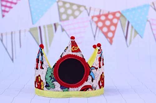 Cappellini da festa Compleanno corona di compleanno per bambini supereroi regalo di compleanno per bambini decorazione di compleanno per bambini