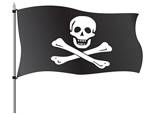 Hemore Bandera de Pirata 150×90cm para La Decoración del Lugar...