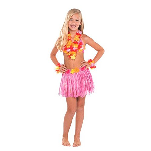 Kostüm Kind Kit - Amscan International Hawaiian 210246 Kinder Hula Kit