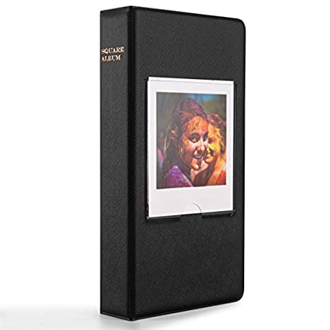 Woodmin 64 Pockets Photo Album for Fujifilm Instant SQUARE SQ10 Films (Black)