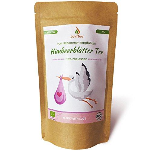 JoviTea® Himbeerblättertee BIO 80g - Kräutertee - auch während der Geburtsvorbereitung - Schwangerschaftstee - 100% natürlich und ohne Zusatz von Zucker. Aus biologischem Anbau. Inhalt: Himbeerblätter