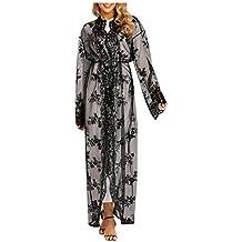 MERICAL Moda Casual Mujeres Étnico Batas Abaya Islámico musulmán Oriente Medio Encantador Maxi Vestido Vendaje Kaftan