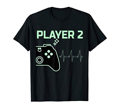 Gaming Kostüm Paar - Player 2 T-Shirt