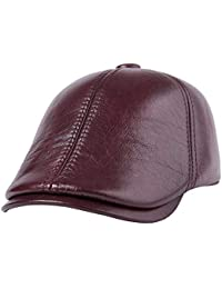 d75a3f3b0d2 Xinqiao Classic Hats Leather Vintage Newsboy Ivy Driving Hunting Flat Caps