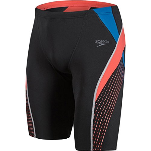 speedo-fit-splice-jammer-homme-noir-rouge-fr-30-taille-fabricant-30