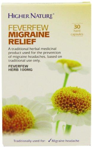 Higher Nature, Soulagement de la Migraine Feverfew, 30 Gélule