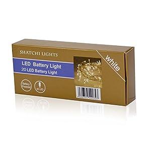 Gifts 4 All Occasions Limited SHATCHI-374 - Faros de hada (20 ledes, funciona con pilas), color blanco