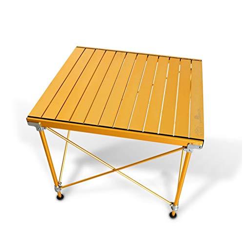 Table Pliante Table Pliante Simple d'extérieur en Alliage d'aluminium - Maison Ordinateur Portable (Color : Gold)