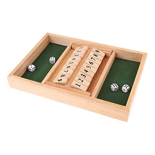 Monland H?lzernes Schliess Den Kasten Tabelle Tafel Spiel Werfen Wuerfel Trinken Spiel 1-9 Fuer Erwachsene Geschenk (Würfel-spiel Trinken)