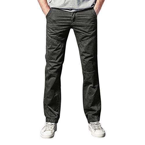 fd1b207a0adf08 Ansenesna Hose Herren Lang Baumwolle Cargo Chino Locker Elegant  Freizeithose Männer Einfarbig Mode.