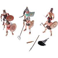 Homyl 6 Unids / Set de Modelos de Roman Gladiador DIY Guerrero Figuras de Acción Juguetes Educativos para Niños Regalo Decoración