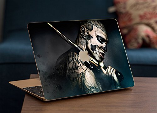 Gadgets WRAP Apple MacBook Air 13 inch Printed Tatoo Guy with Gun Skin for Top Only
