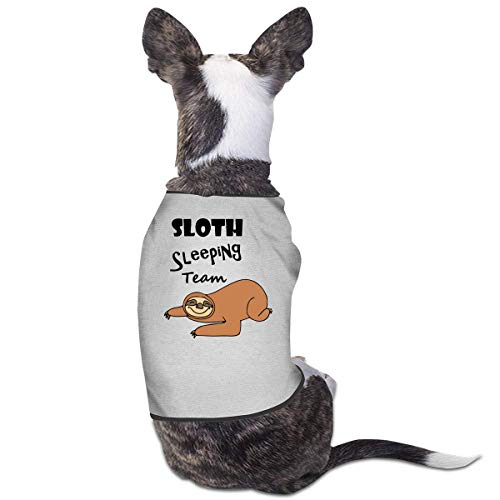 Funny Sloth Sleeping Team Pets Clothing Costumes Puppy Dog Clothes Hund Kleider Vest Tee Shirts -