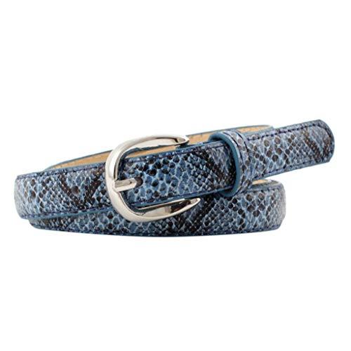 ACEBABY Cinturón de cuero de serpiente para hombre Cinturón para pantalones Mujer Hombre Unisex Vintage cuero serpiente hebilla ocio cinturón pantalones accesorios vaqueros fiesta anchos