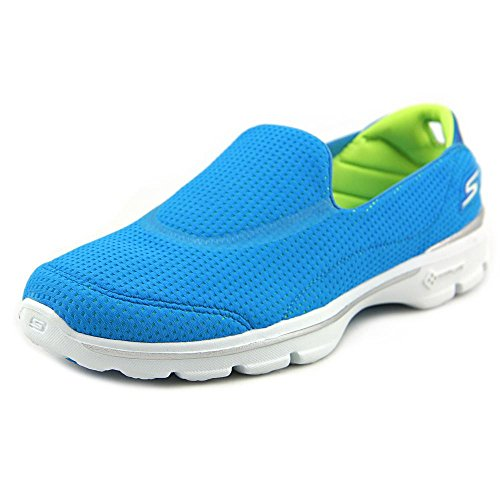 Skechers Damen Go Walk 3 Unfold Sneakers, Grau (Anthrazit) Türkis