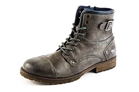 Mustang Herren Boots Halbschuhe Grau Gr. 42