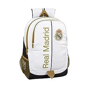 41RxttaZ2iL. SS300  - Real Madrid CF 611954665 Mochila, Unisex Adulto, Multicolor, T.Única