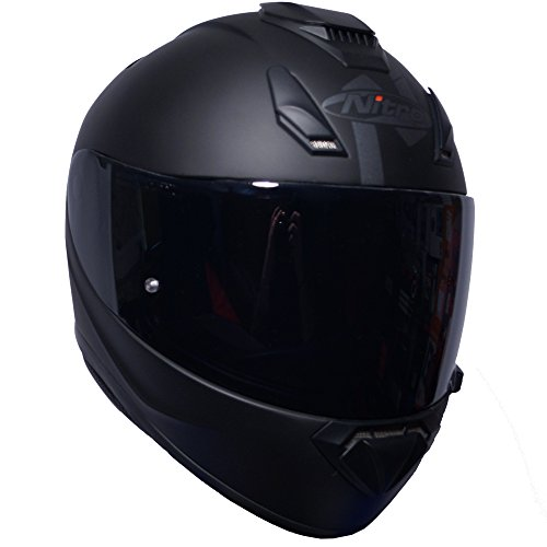 Casco integral motocicleta Nitro N3100 Blackout, color