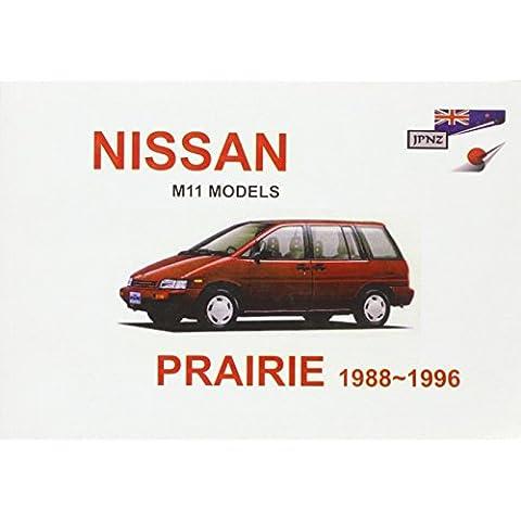Nissan Prairie M11 88-96 Owners Handbook
