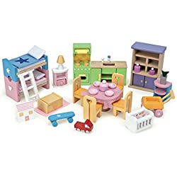 Papo Einrichtungs-Starterset, verschiedene Puppenhausmöbel