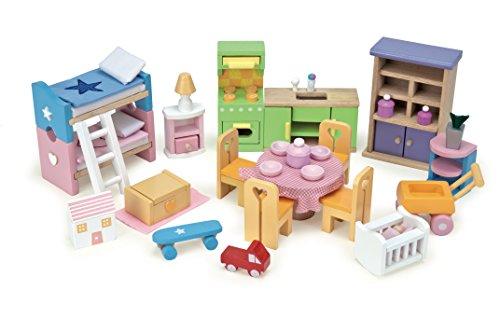 Le Toy Van Starter Furniture Set - Dolls House Wooden Accessory Set
