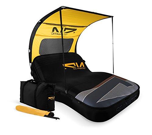 Seanatic Inflatable Cabana Lounge Luftmatratze Badeinsel Sonnenliege (tap shoe)