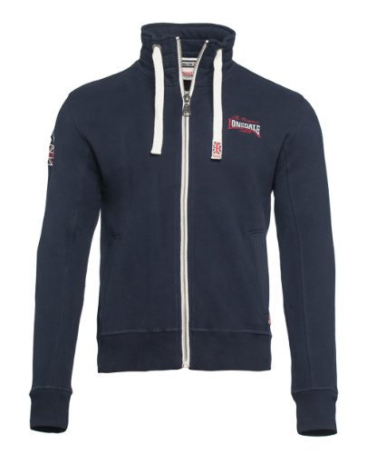 Lonsdale Men Zipsweat Jacket Gillingham-Giacca Uomo, Blu (Dunkelblau), Small (Taglia Produttore: XS)