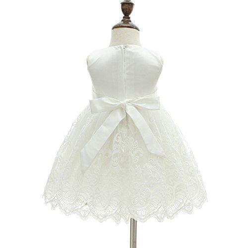 AHAHA Baby Mädchen Prinzessin Kleid Blumenmädchenkleid Taufkleid Festlich Kleid Hochzeit Partykleid Festzug Babybekleidung - 4
