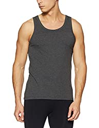 Jack & Jones Mens Solid Vest (12131044_Castlerock_S)