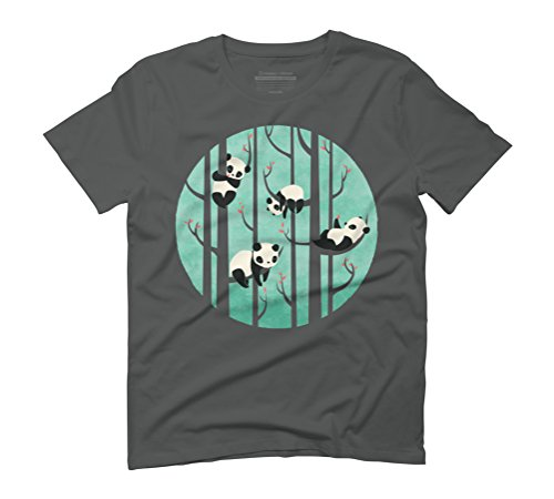 Lazy Sunday Men's Graphic T-Shirt - Design By Humans Anthracite
