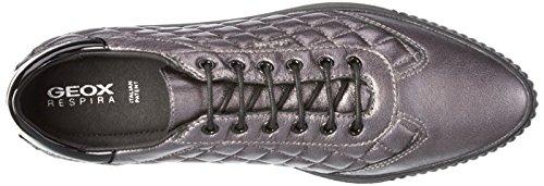 Geox D Amalthia D, Scarpe da Ginnastica Basse Donna Grau (GUNC1357)